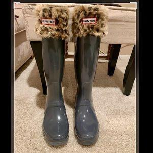 Hunter Accessories - NWOT Hunter Original Tall Faux Fur Welly Boot Sock